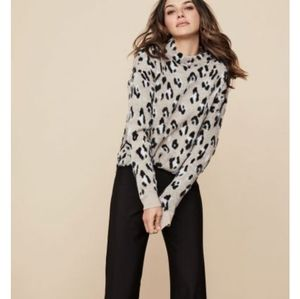 Sweaters - Tribal Animal Leopard Print Pullover Sweater